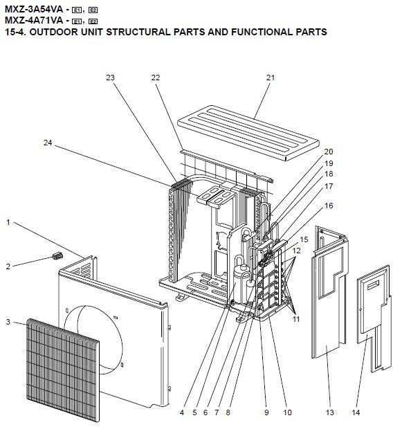 Mitsubishi Electric Air Spare Part E02891961 161219 4-WAY